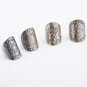 Vintage Tribal Ring Set